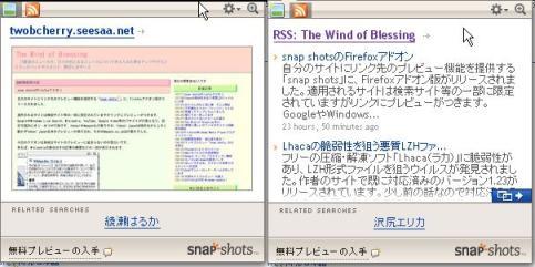 snap shots アドオン 設定画面3
