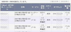 Yahoo!ログイン履歴