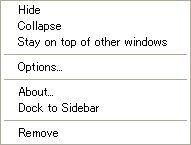 GoogleDesktop3Eng Panelを前面に